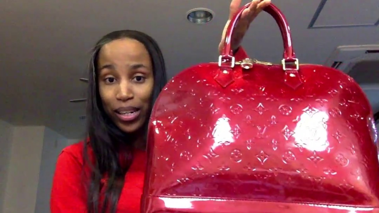 7588387ddc1b Unboxing  Louis Vuitton Vernis Alma GM - YouTube