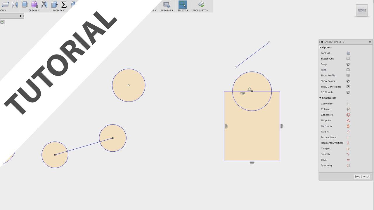 Fusion 360: Sketch Constraints