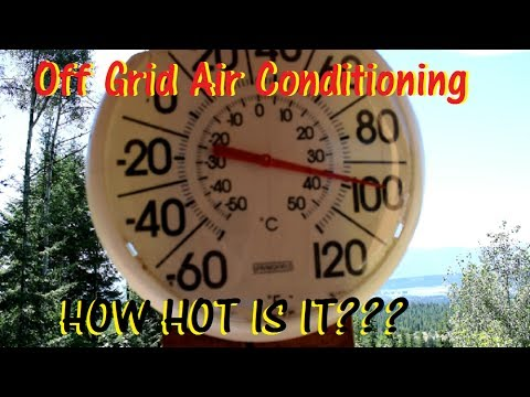 FREE Solar Air Conditioning: HOW HOT IS IT???