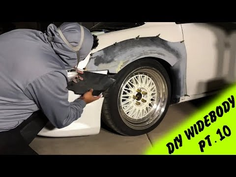 DIY Widebody Fender Flares made out of Rocket Bunny Kit Pt.10 | Making the Flares Wider