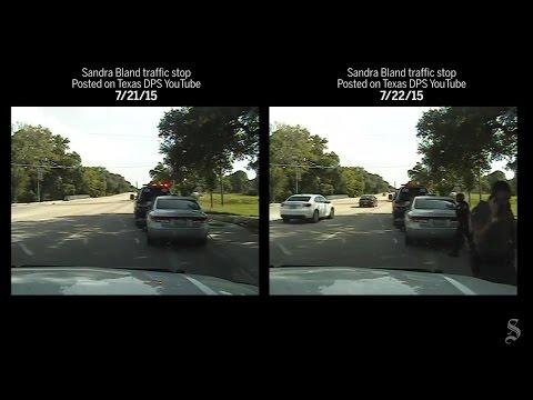 Side-by-side comparison: Sandra Bland arrest dashcam videos