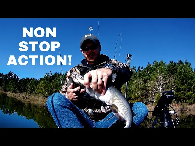 Non-Stop Action Kayak Fishing! Crappie, Bass and Catfish.
