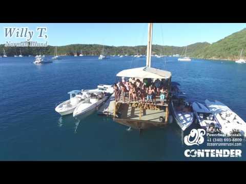 British Virgin Islands Boat Trip Soggy Dollar Jost Virgin Gorda Willy T