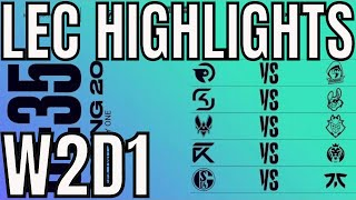 LEC Highlights ALL GAMES Week 2 Day 1 Spring 2020 League of Legends EULEC
