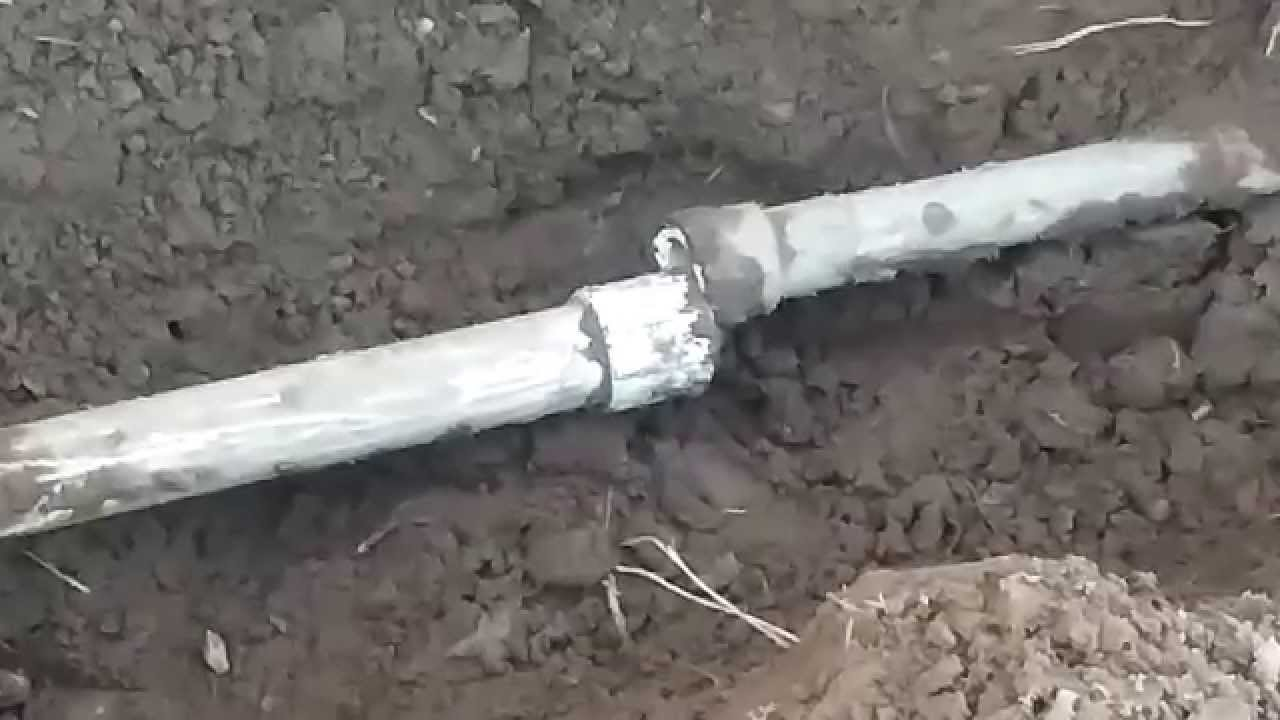 How To Repair Irrigation Main Line PVC Break - YouTube