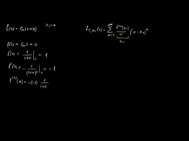 ln(1+x) Taylor-sorának levezetése definícióval