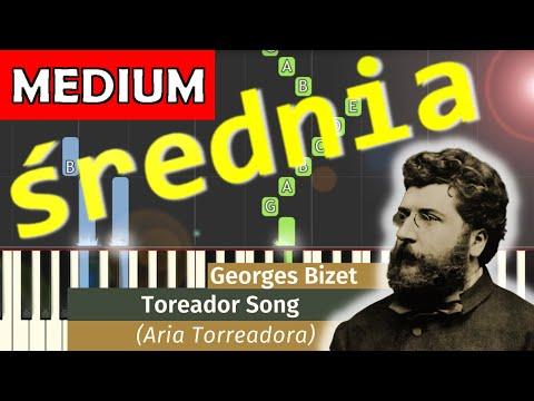 🎹 Pieśń Torreadora (opera Carmen, G. Bizet) - Piano Tutorial (średnia wersja) (MEDIUM) 🎹
