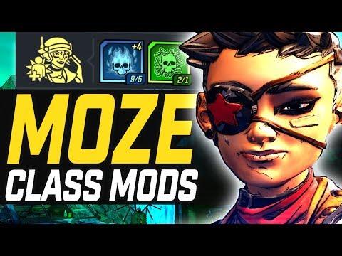 Borderlands 3 | Moze - All Unique Legendaries & Builds (Class Mods)