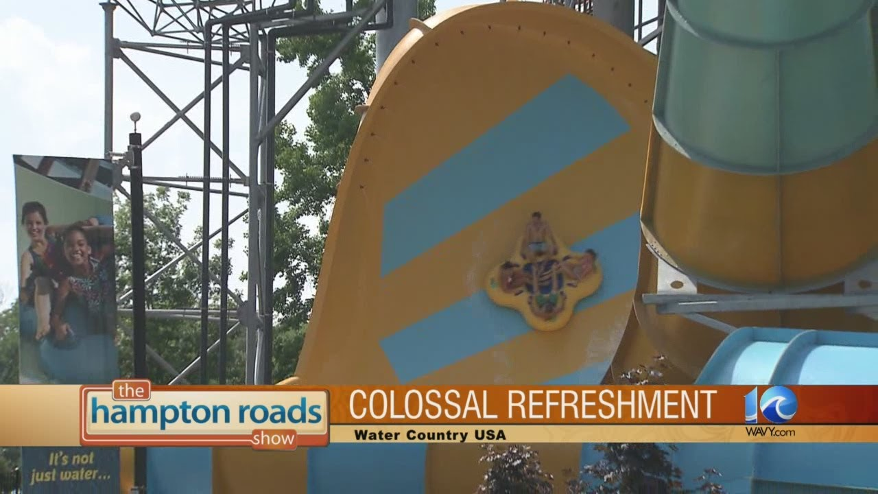 Take a ride on Colossal Curl at Water Country USA. - YouTube