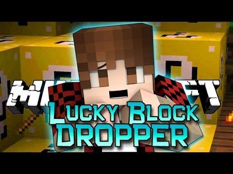 Minecraft: Lucky Block DROPPER! Modded Mini-Game w/Mitch & Friends!