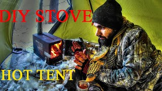 Hot tent DIY ammo can stove