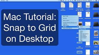 Mac Desktop Tutorial: Snap to Grid