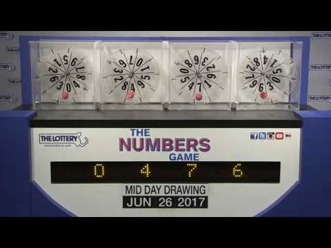 Midday Numbers Game Drawing: Monday, June 26, 2017