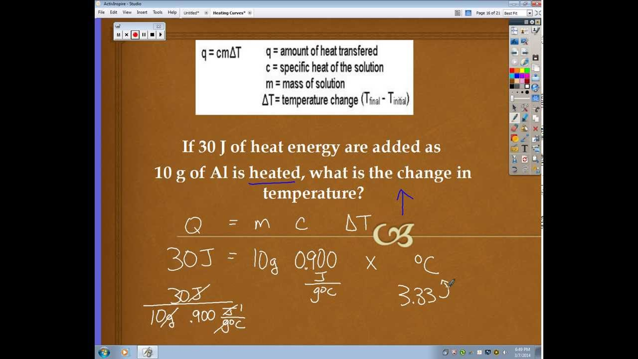 determination of the heat of vaporization Start studying review questions: specific heat, heat of fusion/vaporization learn vocabulary, terms, and more with flashcards, games, and other study tools.