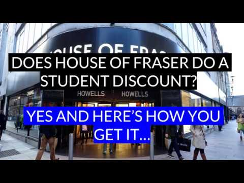 House of Fraser Student Discount | 10% Promo Code + 30% Off