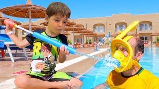Bogdan si tata fac sport in piscina   Sketch Bogdan Show