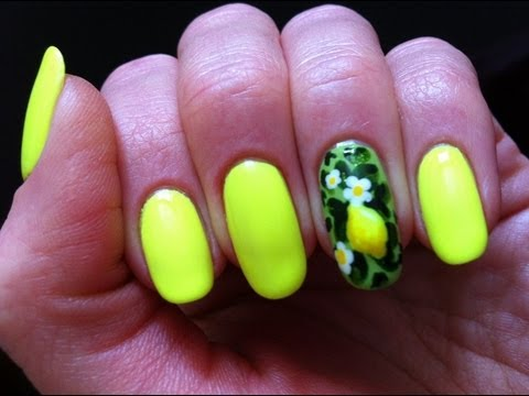 Neon lemon nail art citrus manicure youtube neon lemon nail art citrus manicure prinsesfo Gallery