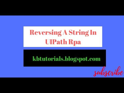 String Reversal In UiPath Rpa