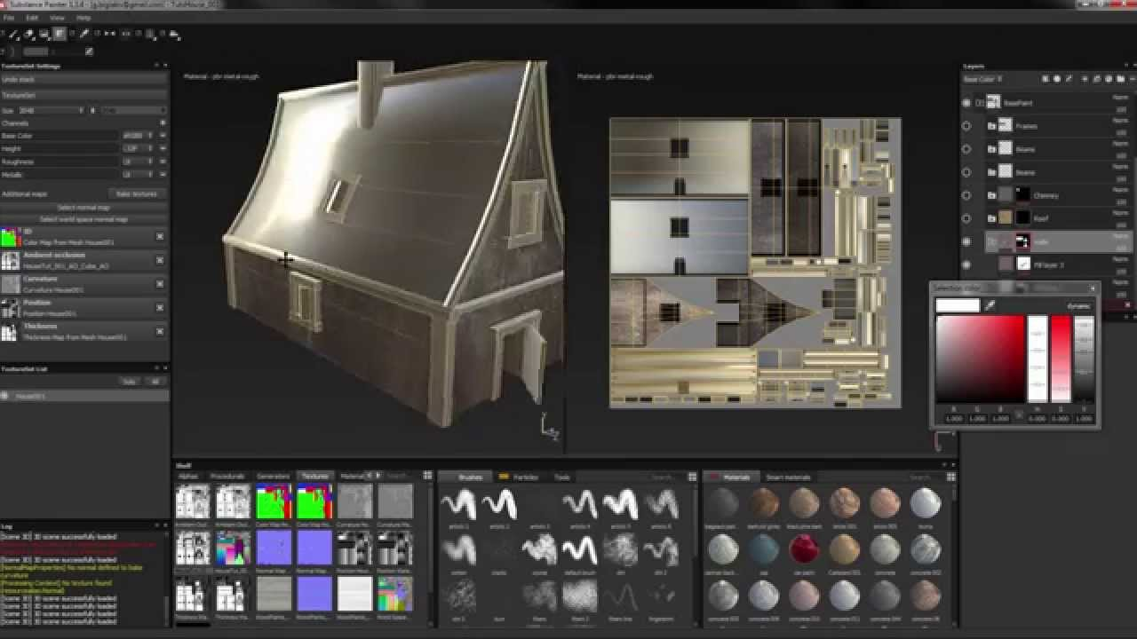 How to create a house game asset in blender part 2 texturing youtube Create a house game
