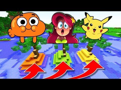 NE CHOISISSEZ PAS LA MAUVAISE ÎLE MINECRAFT !! Darwin Marina Pikachu !