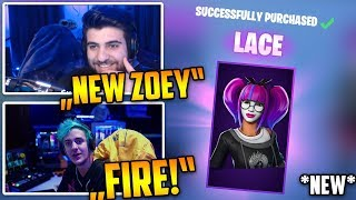 Streamers React to *NEW* LACE and PARADOX Skins!| Fortnite Clips