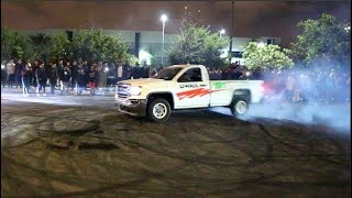 UHAUL RENTAL TRUCK GETS SIDEWAYS! Car Meet Chaos..