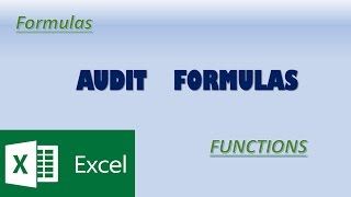 Excel Important Auditing Formulas I Do auditing in easy way