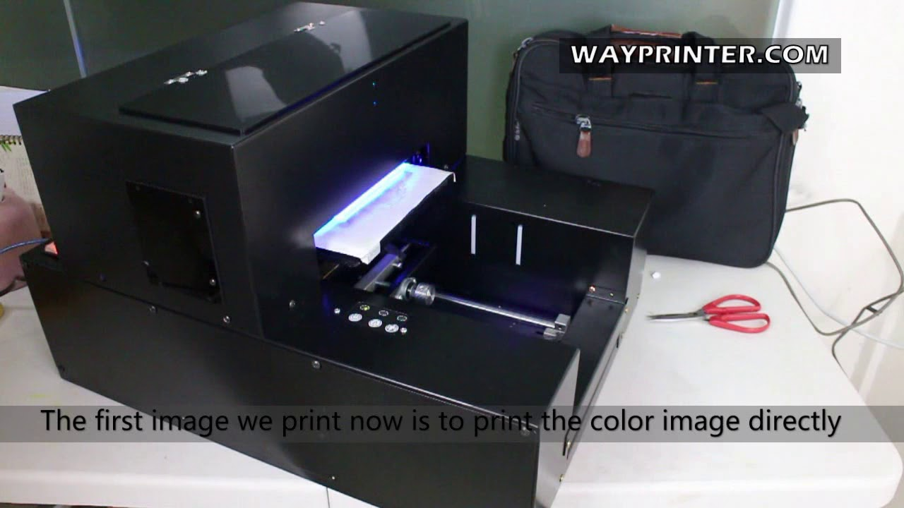 How UV Flatbed Printer Print White Ink And Difference With Color Only