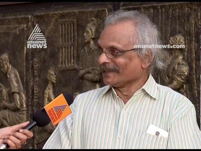 Writer M. Mukundan with Asianet News sharing Mahe Election News