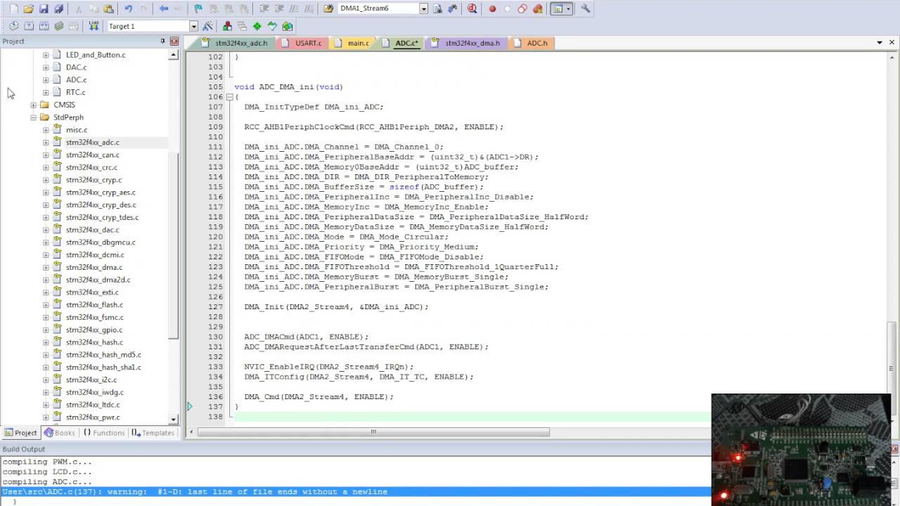 stm32 Урок 68: ADC+DMA+TIM