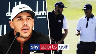 "Brooks Koepka ""heartbroken"" over blinded fan & denies Dustin Johnson rift"