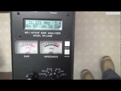 Using an MFJ-259B Antenna Analyzer