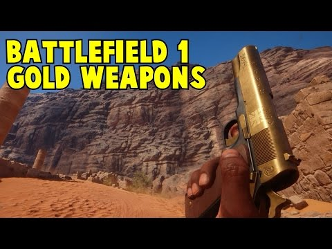 Gold Weapons Battlefield 1