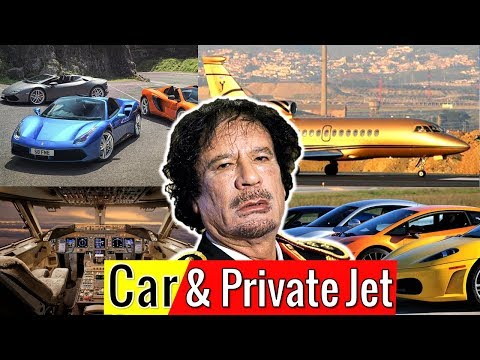 Gaddafi Luxurious Private Jet and Car Collection | Libya King Gaddafi Car Collection