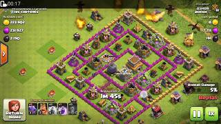 clash of clans : how to attack with dragons for clearing base 100%