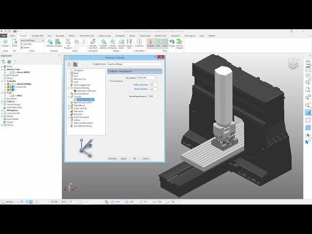 Automatic Tool Tilting - PowerMill 2019