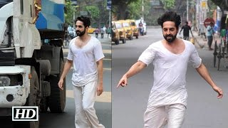 Watch Ayushmann spotted shooting for
