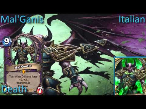 Mal'Ganis card sounds in 12 languages -Hearthstone✔