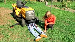 KILLED BY LAWN MOWER PRANK | Extra Footage