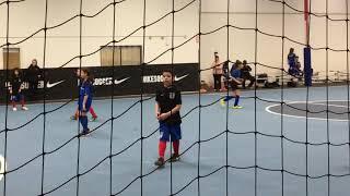 Indoor Soccer Game At San Juan Soccer Facility