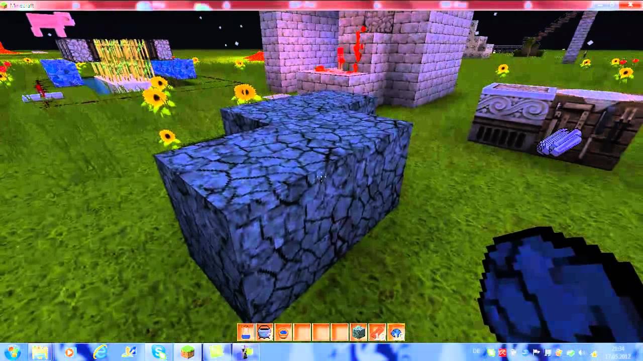 Minecraft Lehm,Lehm Ziegel und Kessel craften - YouTube