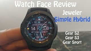 Watch Face Review : Jeweler Simple Hybrid Gear S2 Gear S3 Gear Sport