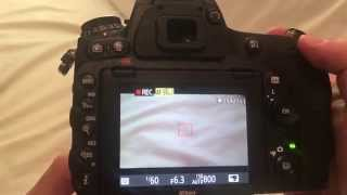 How to record video on a Nikon D750 dslr camera