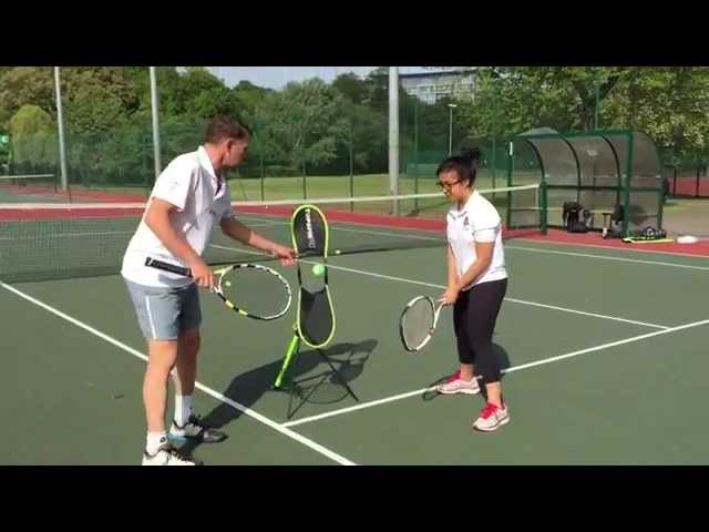 Frances (12) learns the double-handed topspin backhand in 60 seconds