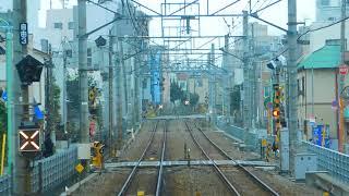 東急大井町線前面展望雪 自由が丘→九品仏