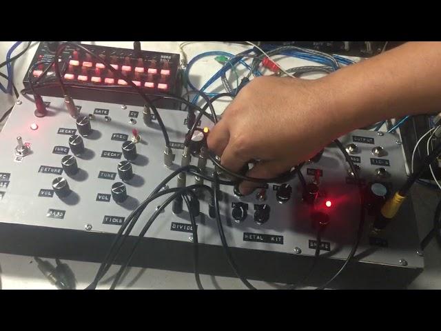 Drum Noise Synth [semi-modular drum machine]