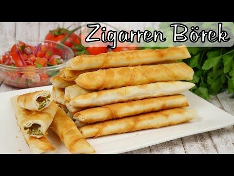Zigarren Börek mit Tomaten-Salat I Sigara Börek mit Käse I Sarma Börek