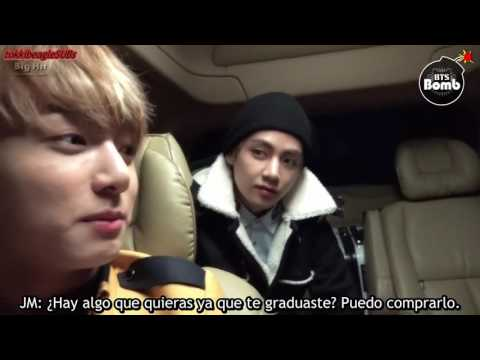 [SUB ESPAÑOL][BANGTAN BOMB] Jung Kook went to High school with BTS for graduation!
