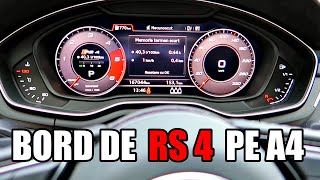 AM PUS BORD DE RS4 PE AUDI A4 !!