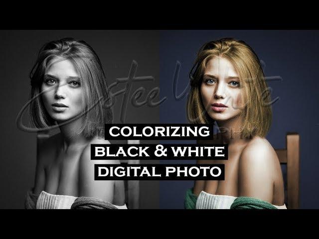 Realistic Colorizing of Black & White Photo - Photoshop Workflow | Estee White Photography